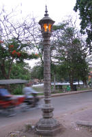 A lamp pole in Kmer tradition