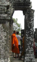 Monks also visit the sights