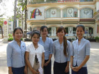 Staff from Angkor Shopping Centre