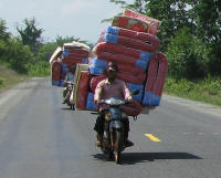 Matresses being transported