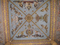 The ceiling in the centre