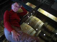 A glass floor and aging wine