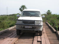 Crossing a bridge in the Pantanal