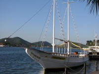 Yacht in Cabo Frio harbour