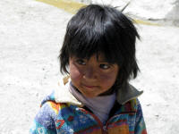 Little girl living near the mine. Very few live so close.