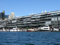 The docks, now luxury apartments with mooring facilities