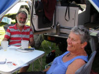 Bob and Anne, Australians who travelled through Africa in Toyota set up like ours