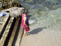Trying out the water at Porec