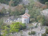 Small church in the mountains