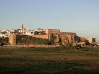 Rabat, old city from the parking