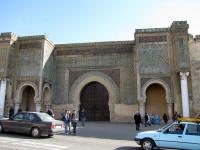 Bab Mansour, the most decorated gate