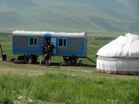 Yurt and trailer